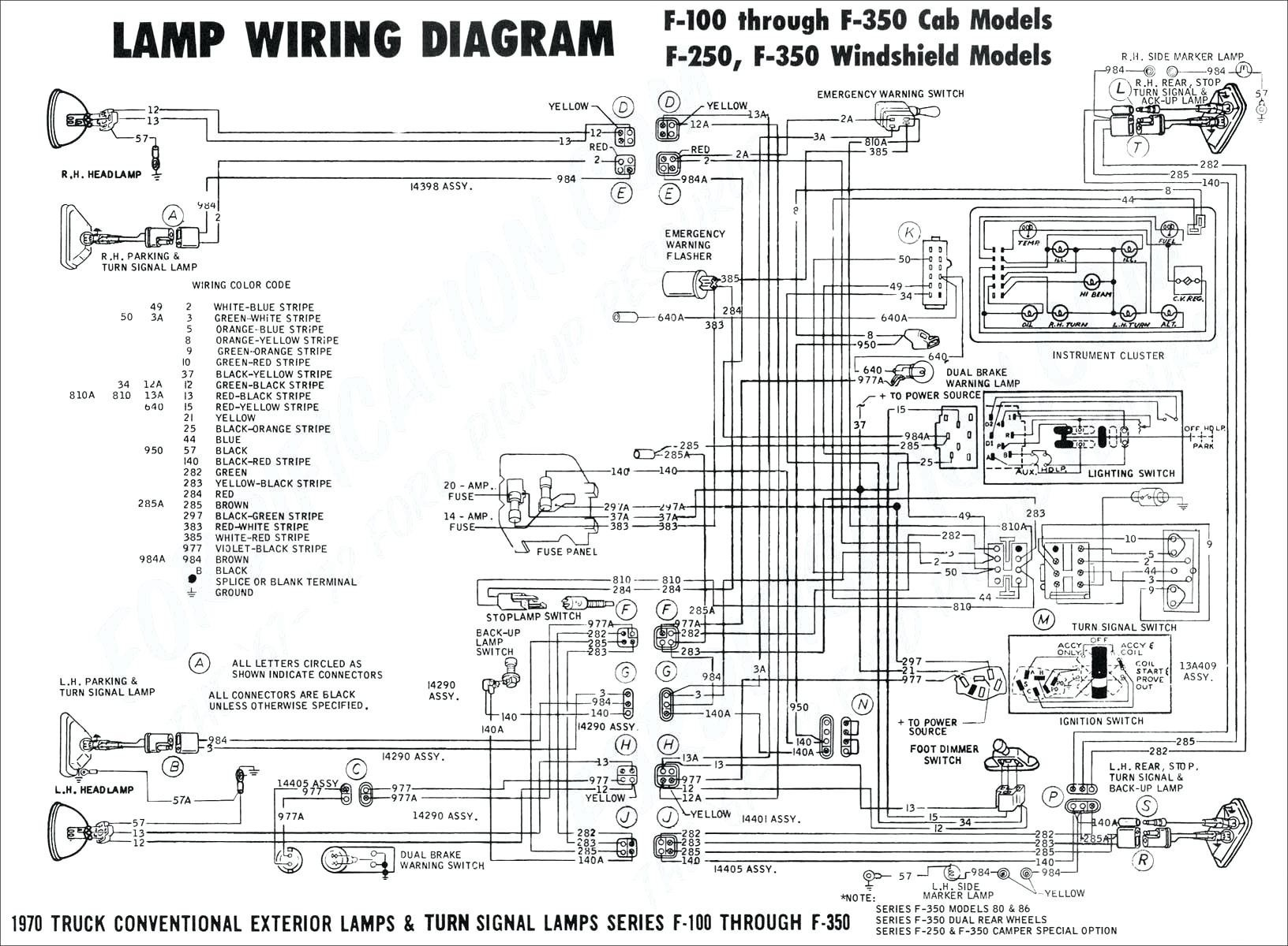 f150 alternator warning light wiring diagram