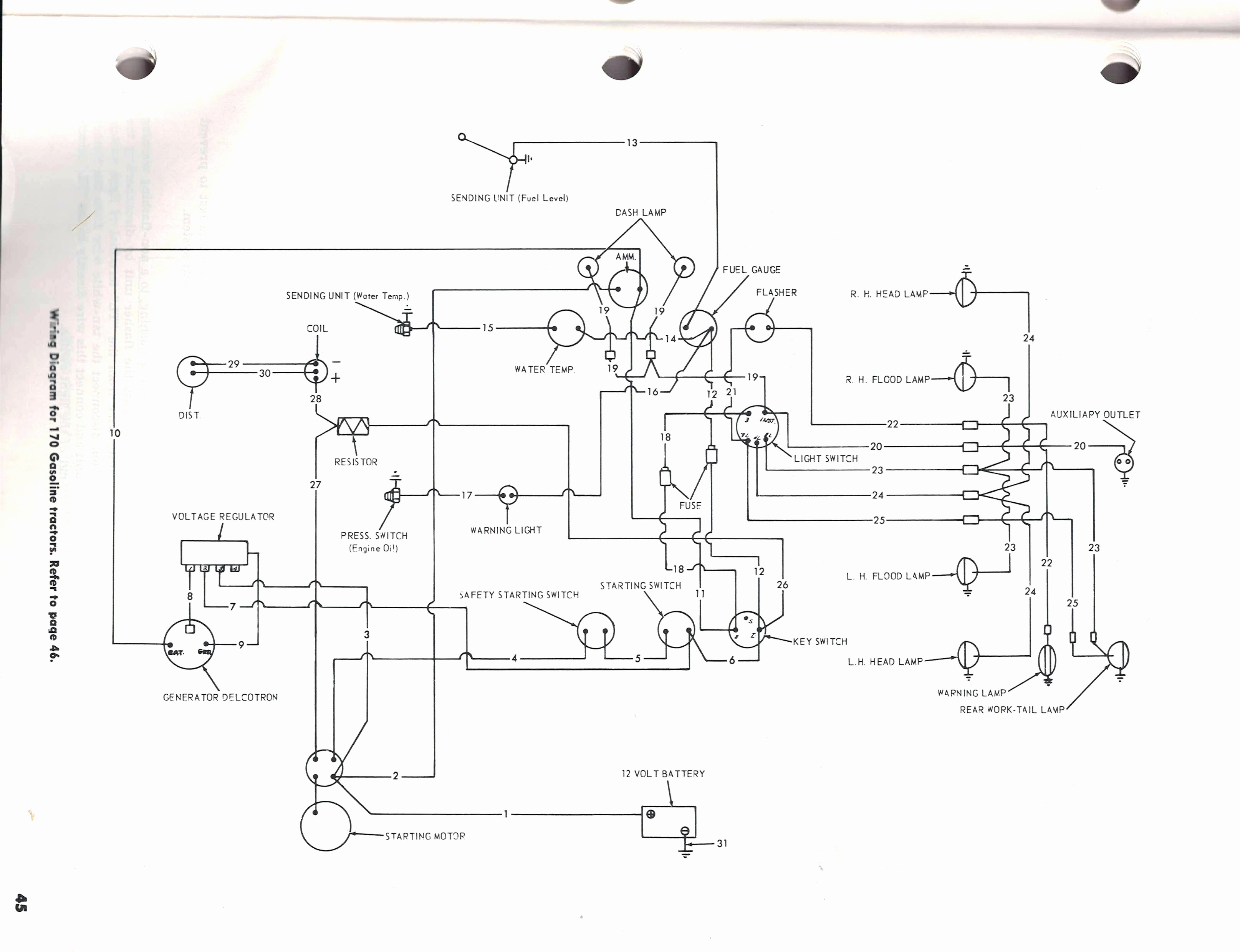 ford 801 tractor 12v wiring diagram