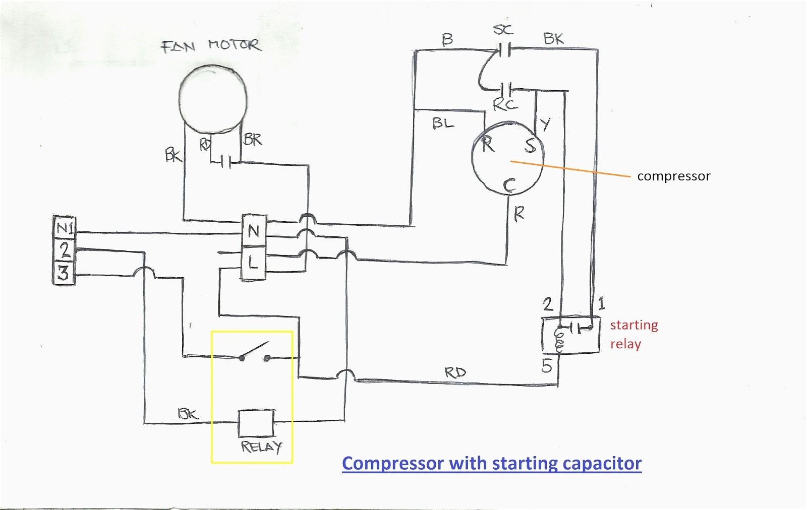 copeland condensing unit wiring diagram ac pressor capacitor rh jasonandor org hvac pressor parts diagram hvac