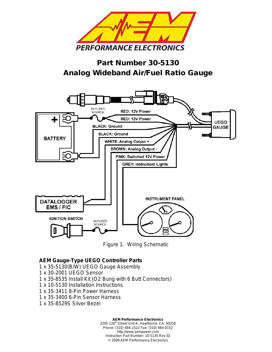 Aem Air Fuel Gauge Wiring Diagram Wellread