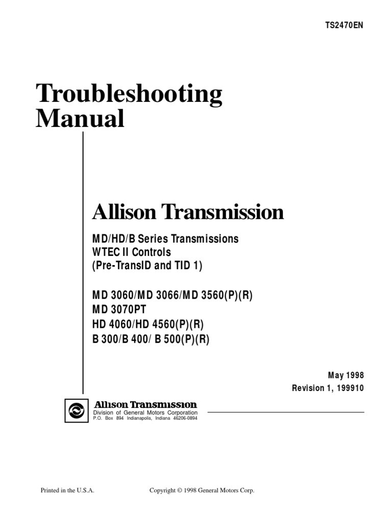 Allison Md3060 Transmission Wiring Diagram Library Gm Diagrams Md3066 Diy Enthusiasts 3000 4000 3060