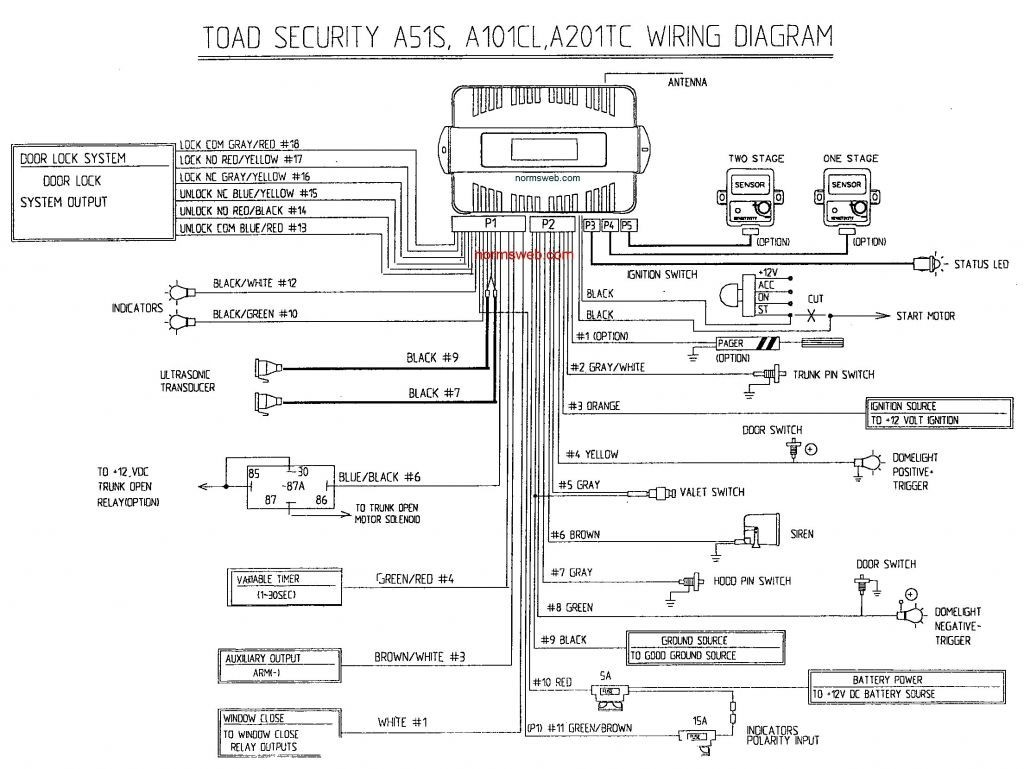 Autopage Alarm Wiring Diagram