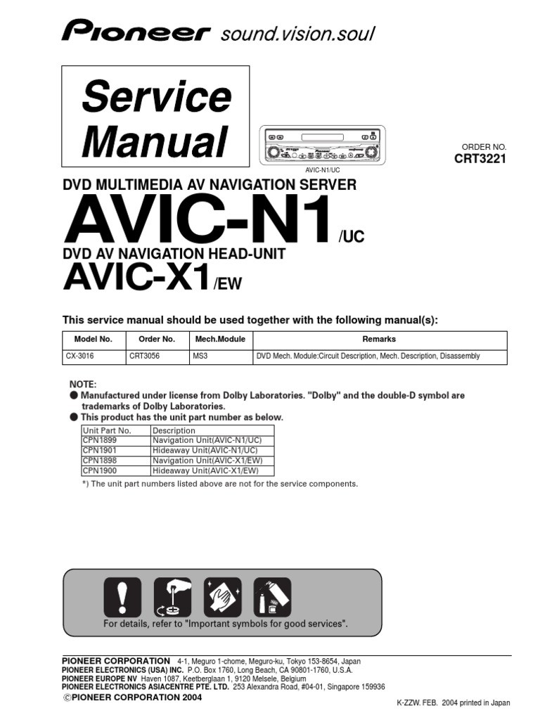 Pioneer Avic N1 Wiring Diagram Library Avh P6000dvd Wire Unique Image