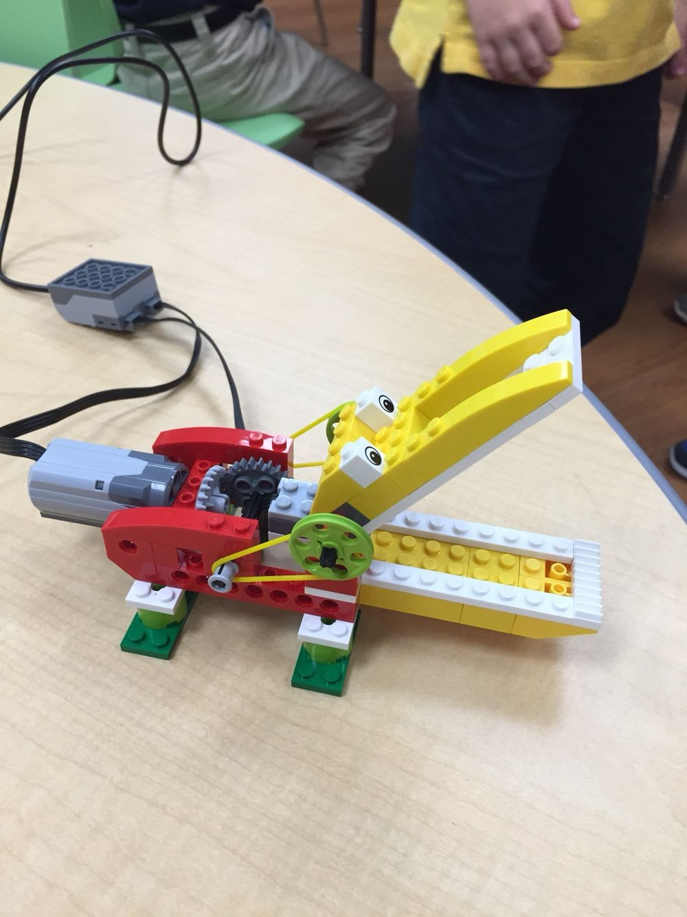 Students learn programming building function of mechanics and team building