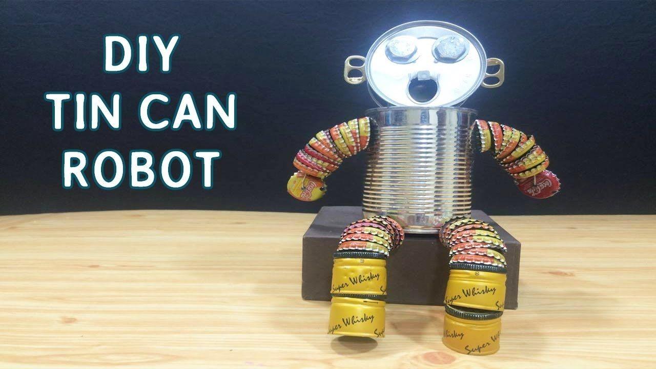 DIY Tin can Robot Toys for kids 8 Crafts ideas
