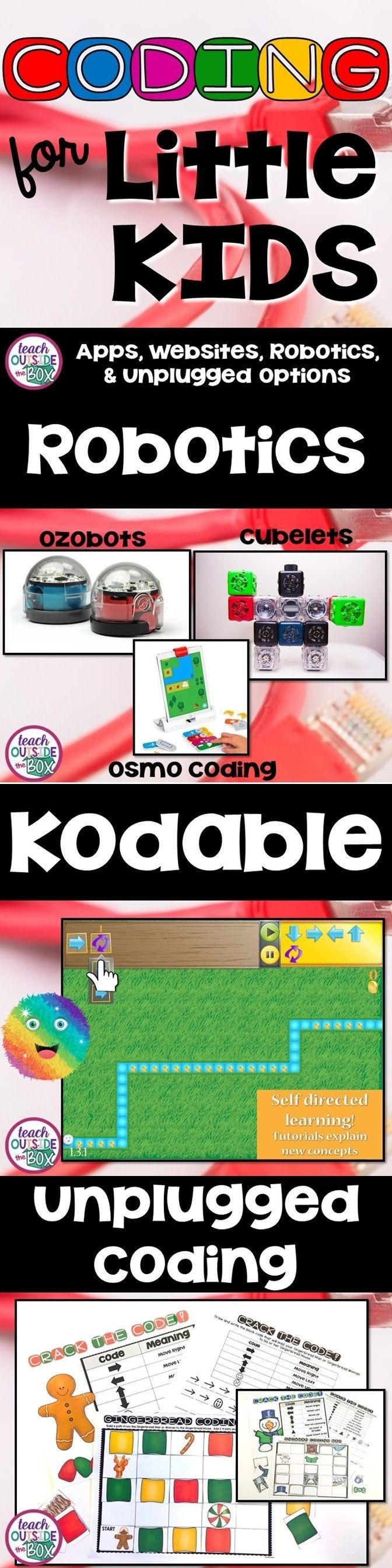 Apps Websites Robotics toys and unplugged coding options for young children