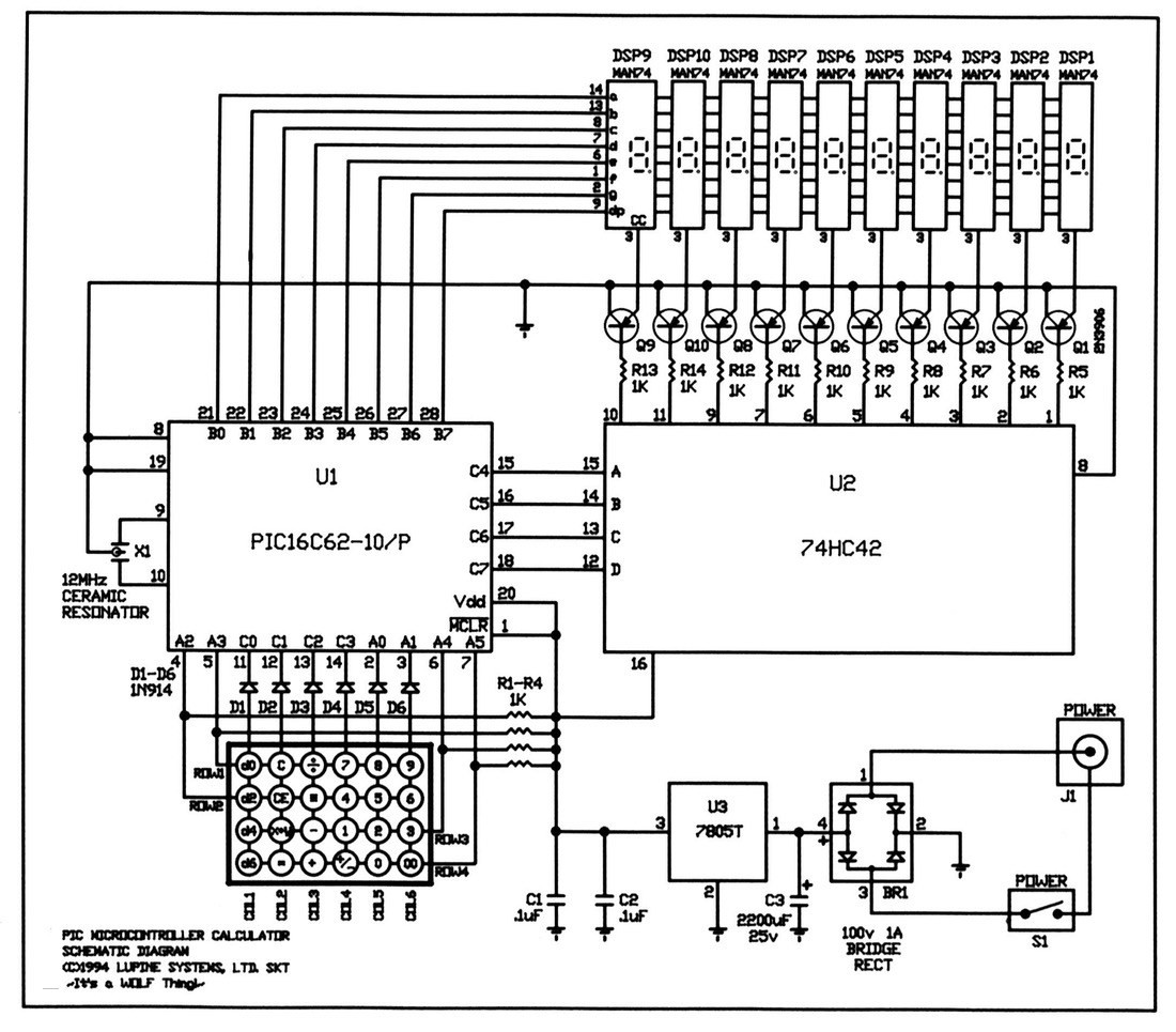 calculator circuit diagram