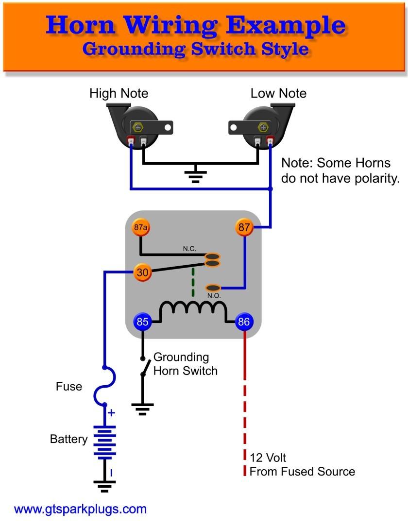 automotive horns gtsparkplugs rh gtsparkplugs auto horn wiring diagram Wolo Air  Horn Wiring Diagram