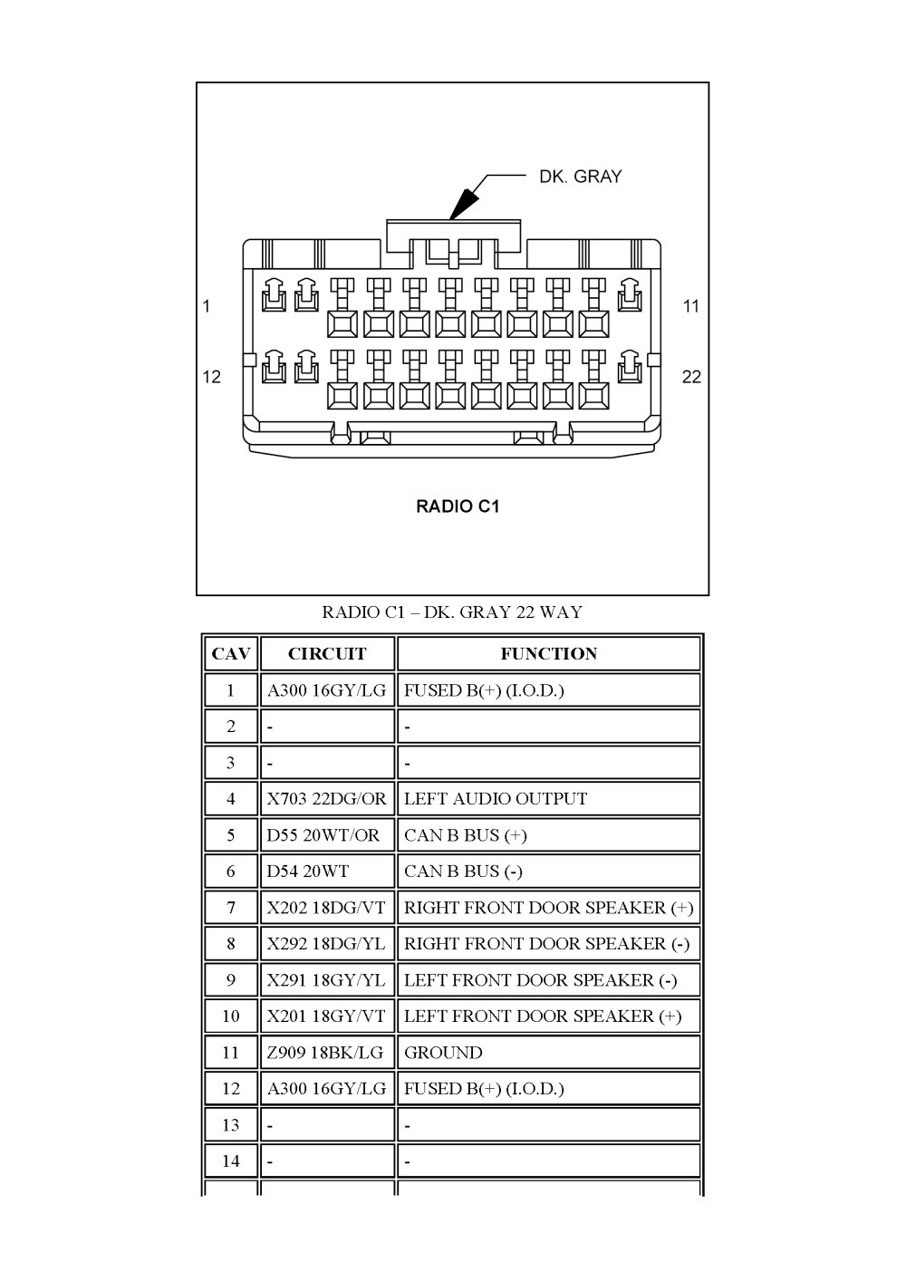 2005 Dodge Stratus Radio Wiring Diagram from mainetreasurechest.com