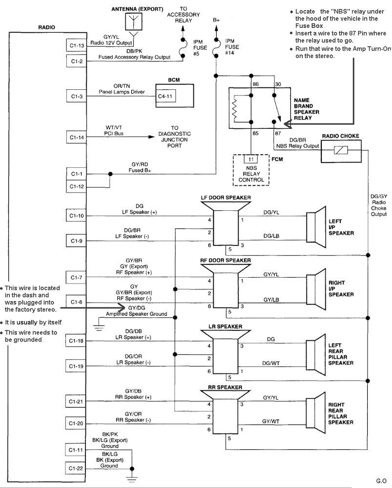 Mitsubishi Infinity Amp Wiring Speaker - Car Wiring Diagrams Explained •