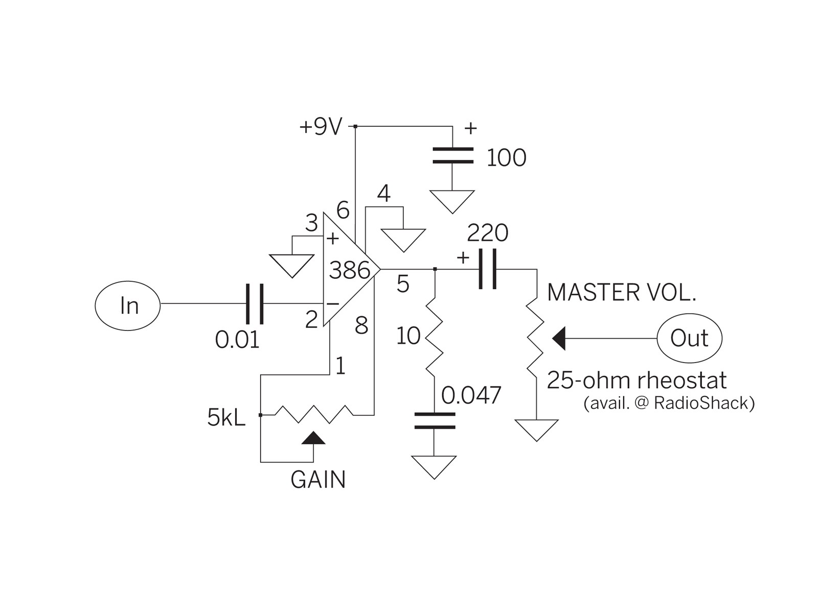 The only thing I changed was that I power the circuit with 12v instead of 9v It is possible to power this circuit with a 9v battery