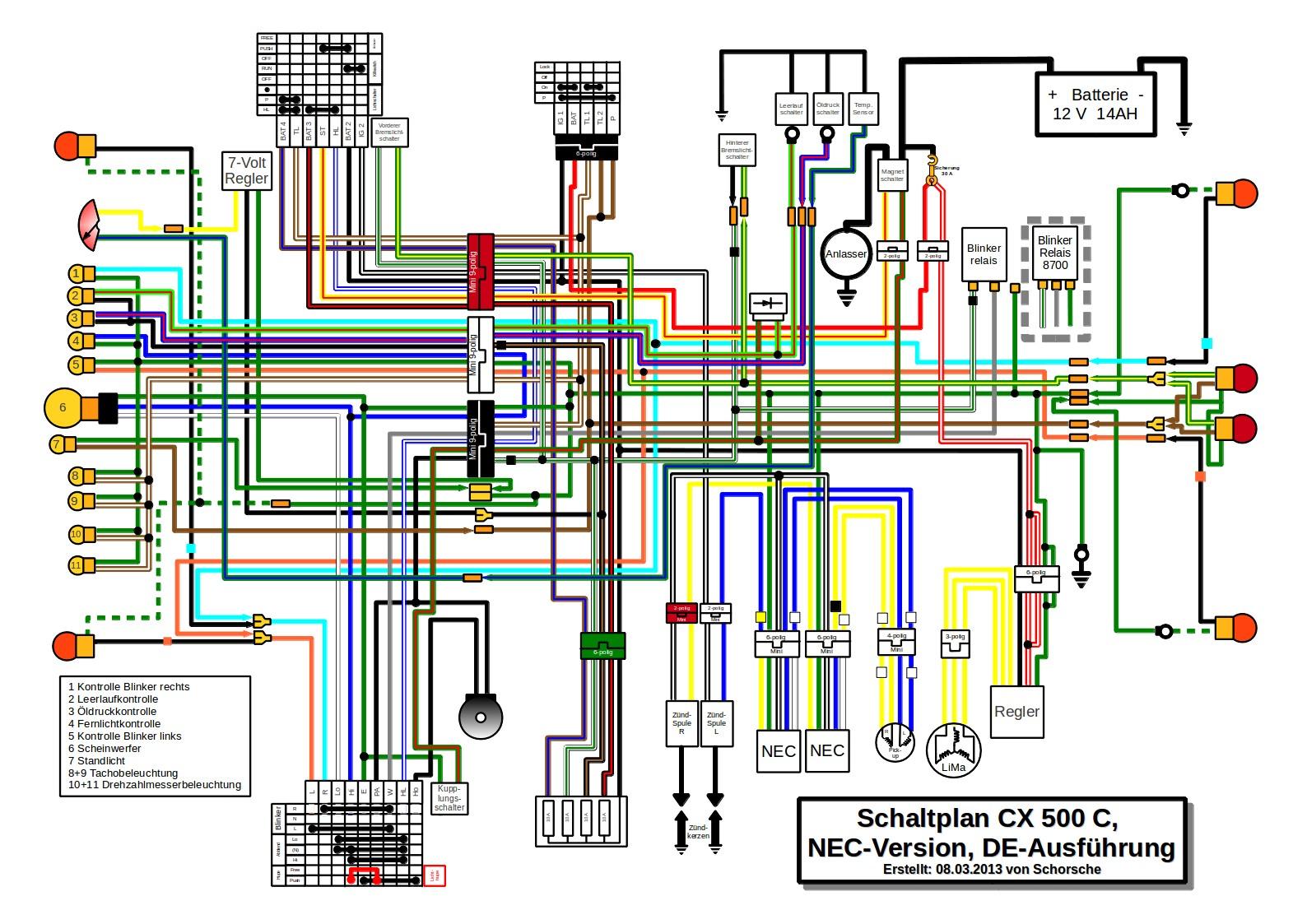 honda cx500 ignition wiring diagram diy enthusiasts wiring diagrams u2022 rh okdrywall co 1978 Honda CB750K Wiring-Diagram Honda CB 750 Wiring Diagram