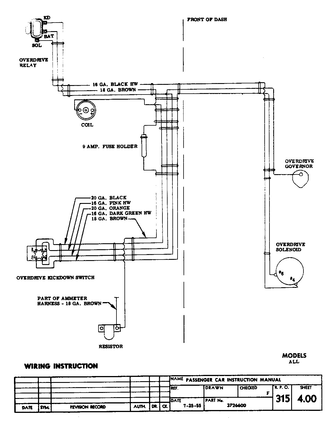 1955 Chevy Wiring Diagram On Overdrive Trusted Bel Air Delco Remy Voltage Regulator Unique 1956 Chevrolet