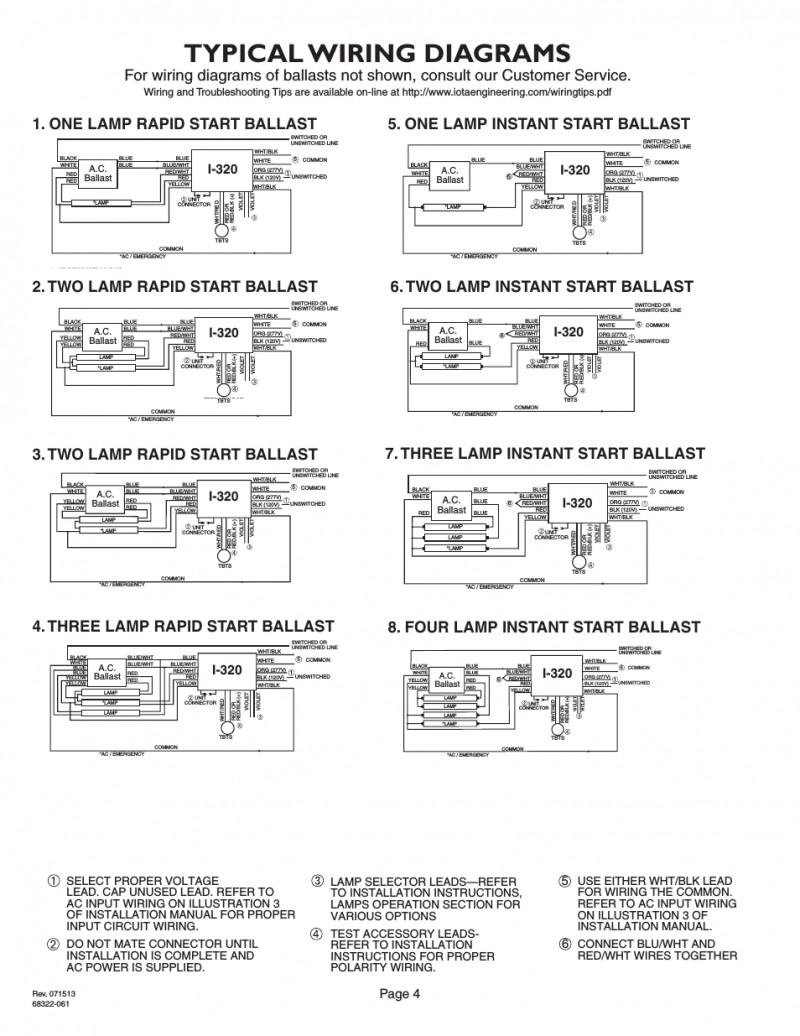 Fluorescent Emergency Ballast Wiring Diagram Expert Schematics Lighting 6 Best Images Of 32w Schematic Diagrams Examples