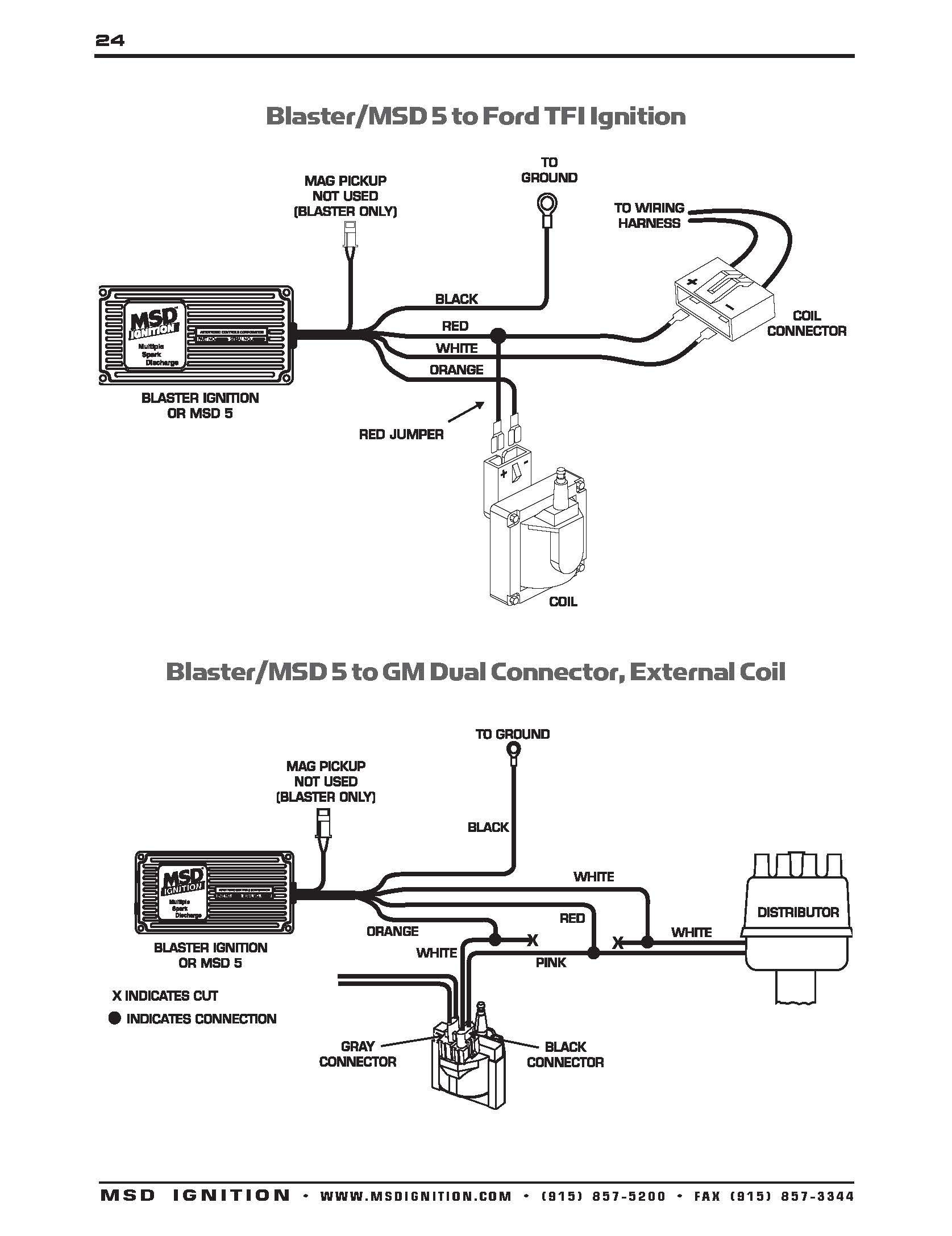 Ford 302 Msd Distributor Wiring Diagram MSD HEI Fair 6al Mopar