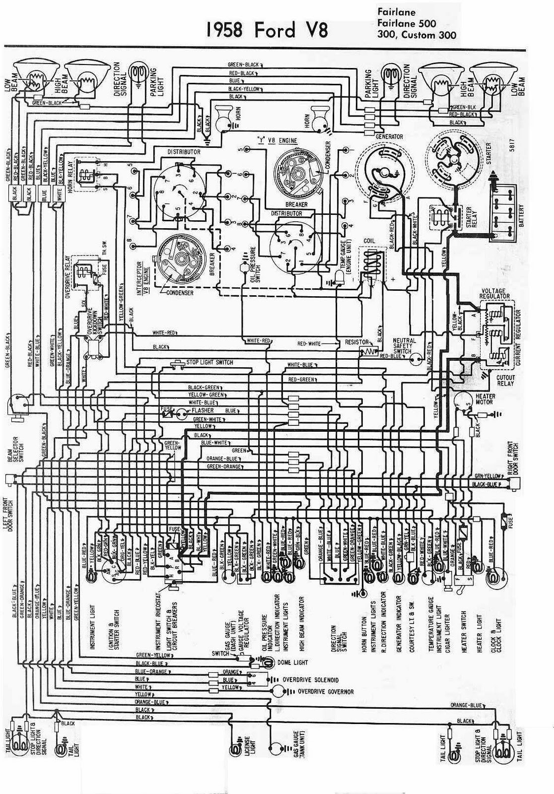 1958 Ford Ranchero Headlight Switch Wiring Diagram Simple 1956 Schematic Ignition Image 95 T Bird