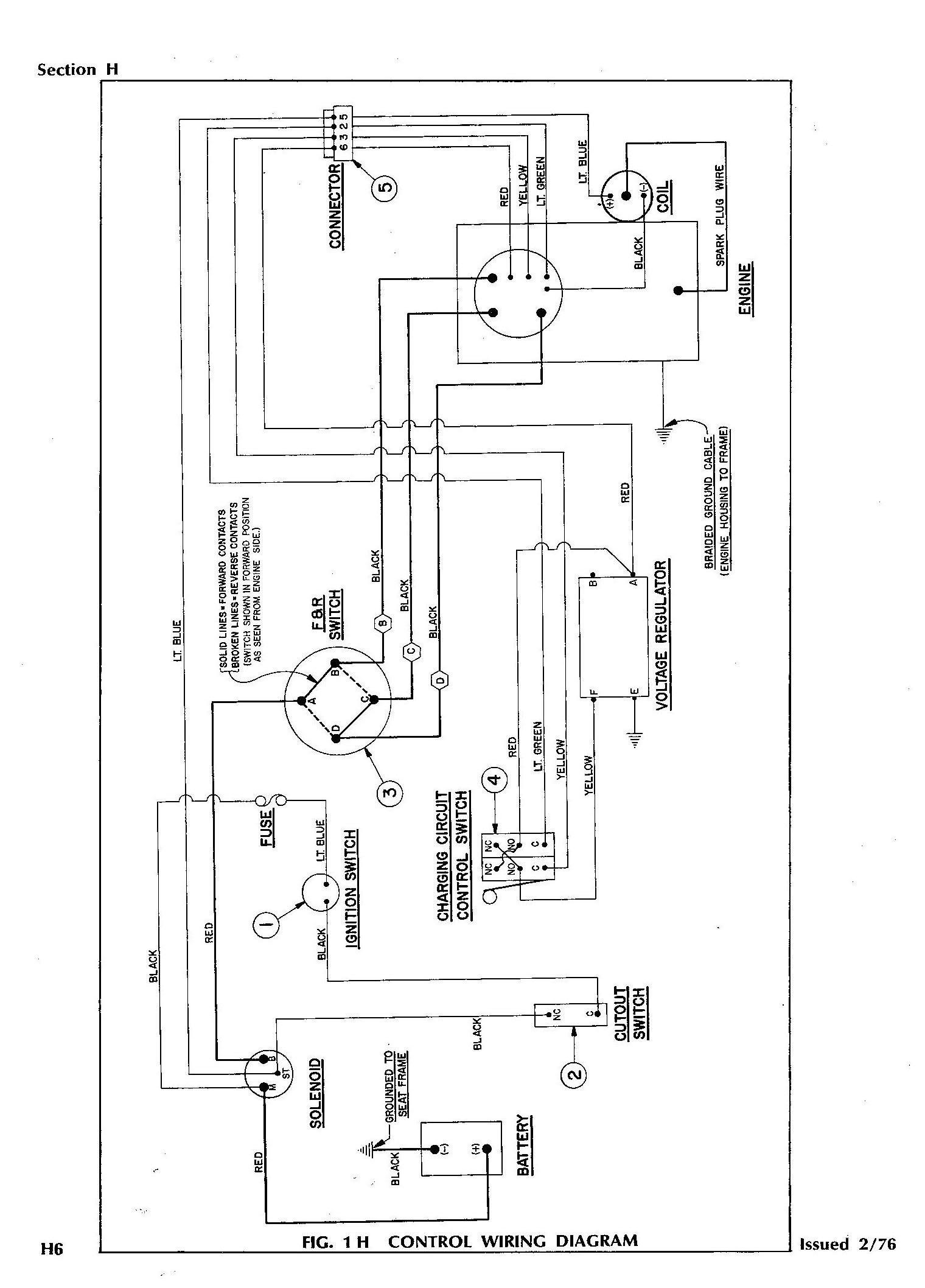 on ezgo txt headlight wiring diagram