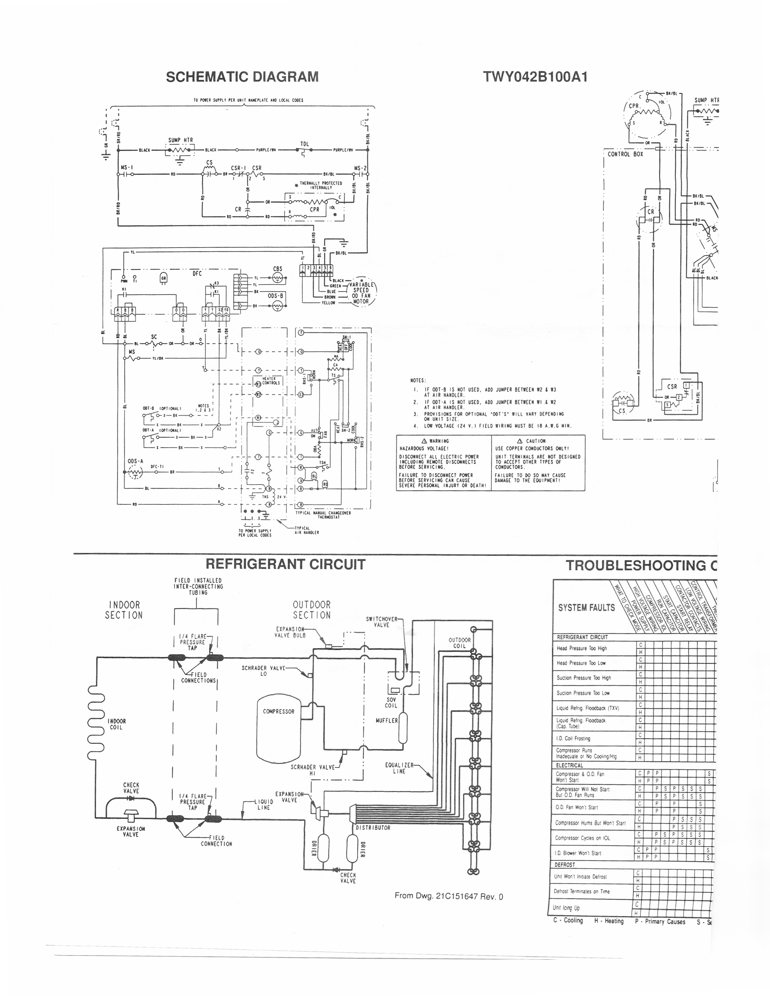 Trane Air Conditioner Wiring Schematic Handler Diagram For Solidfonts New Heat Pump And Thermostat For Trane Wiring Diagram