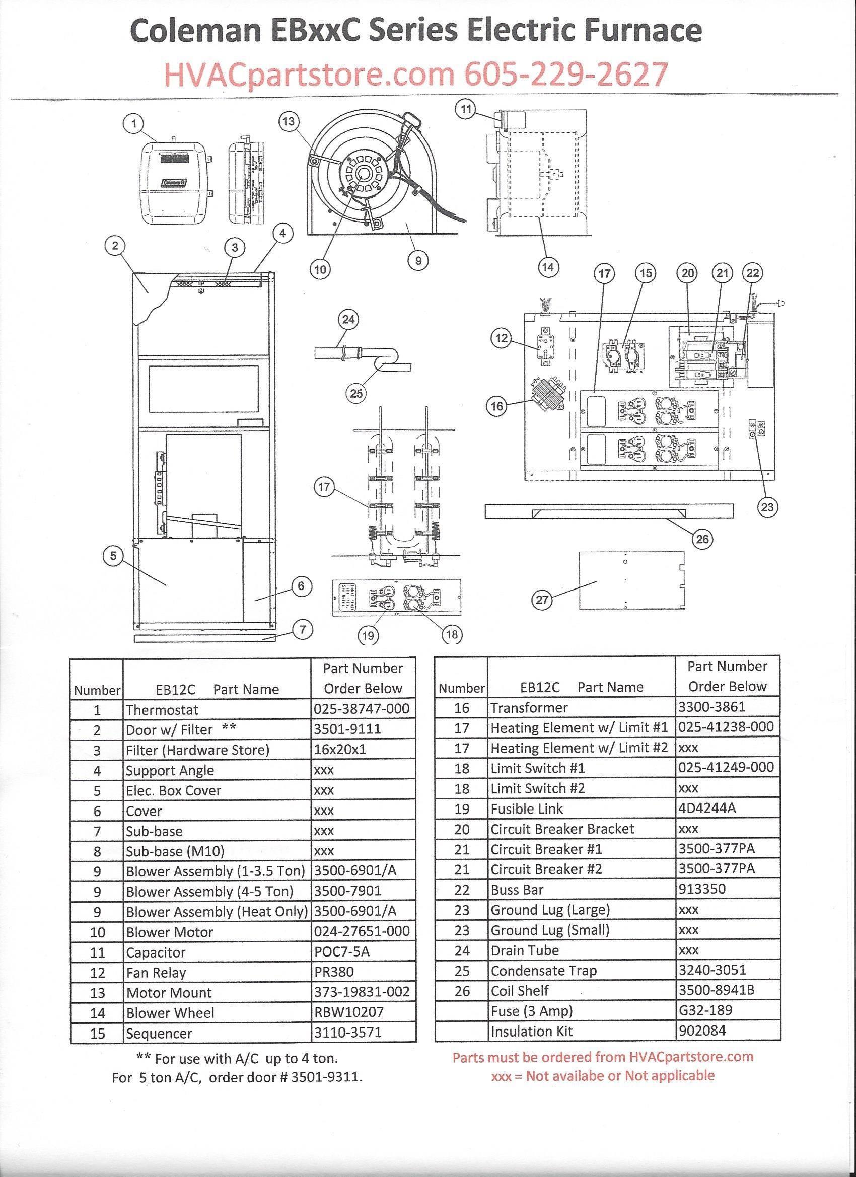 Tertherm Electric Furnace Wiring Diagram Elegant Eb12c Coleman Beautiful Intertherm Electric