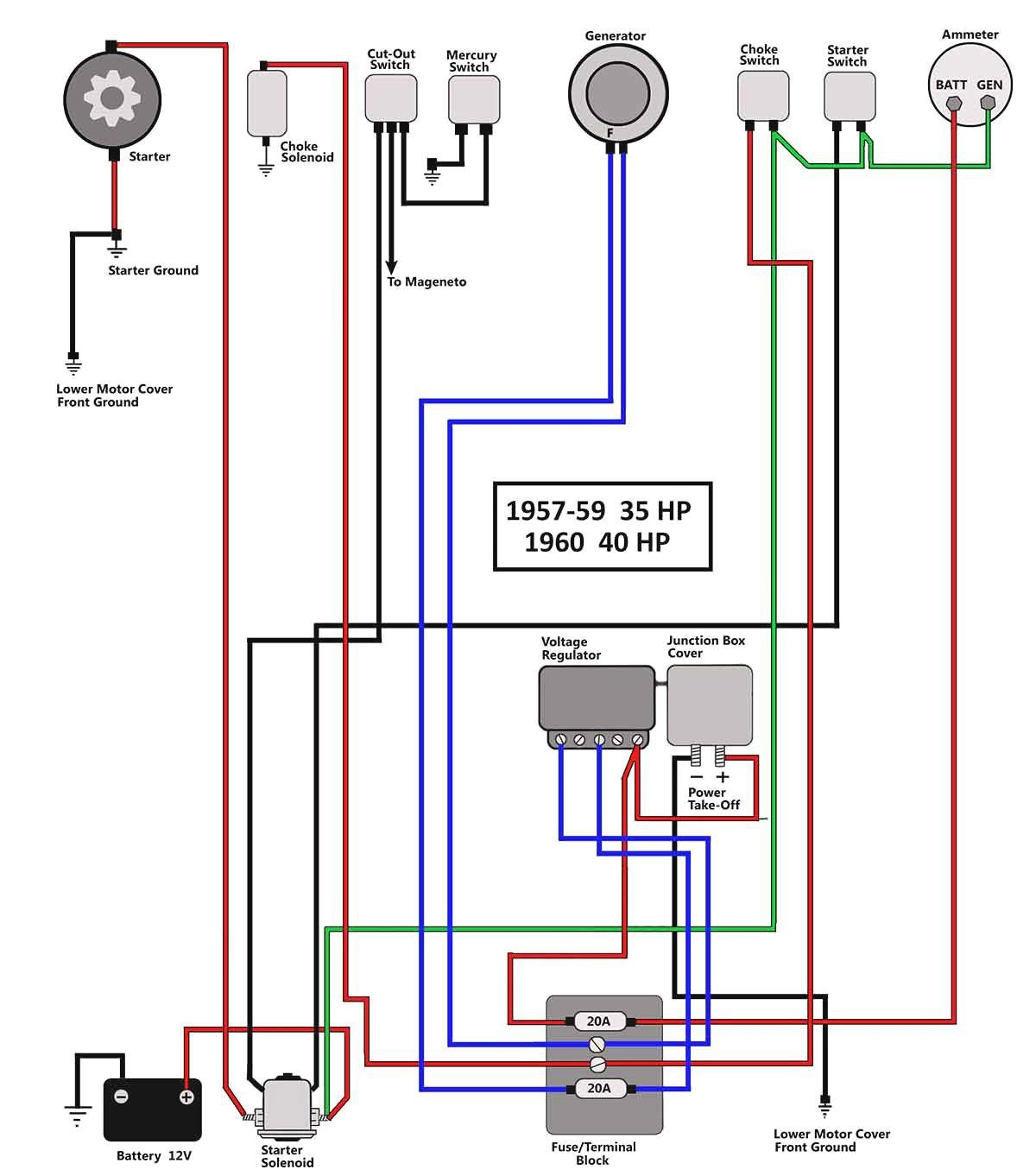 40 Hp Mercury Outboard Wiring Diagram Moreover Johnson Outboard Johnson  Outboard Wiring Diagram Pdf