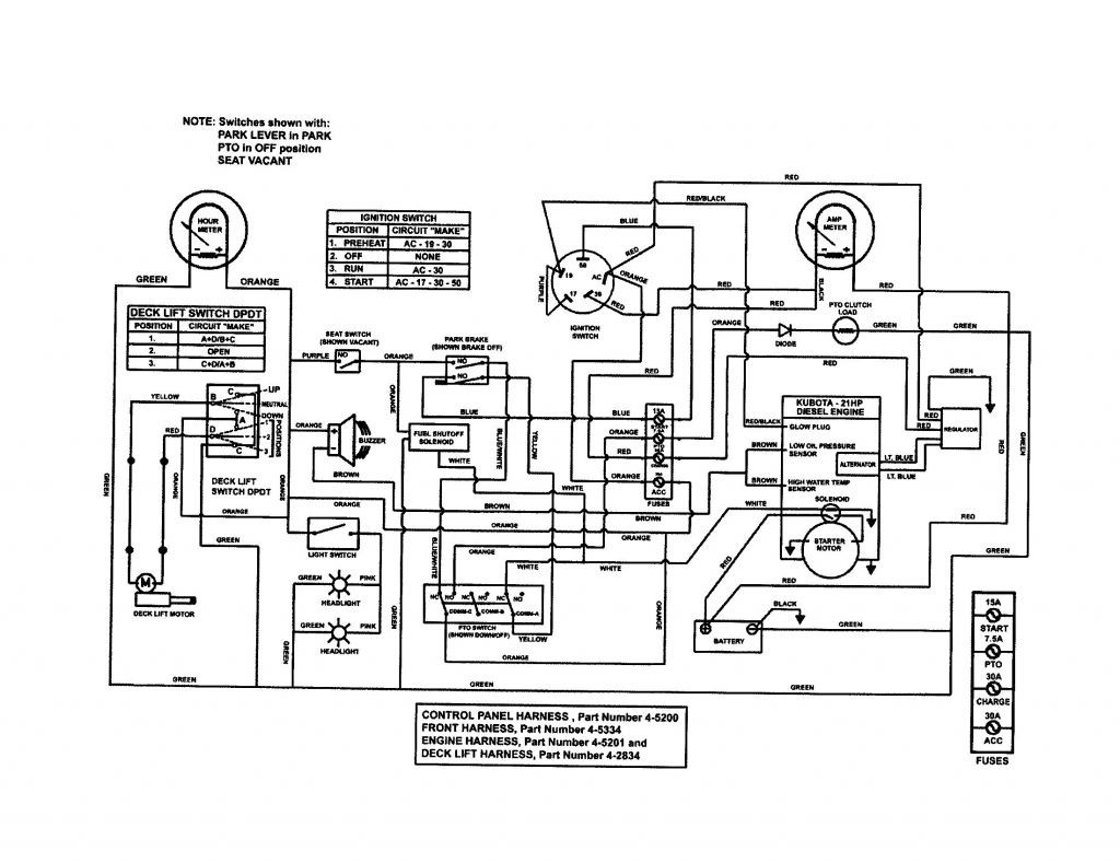 kubota b8200 engine diagram
