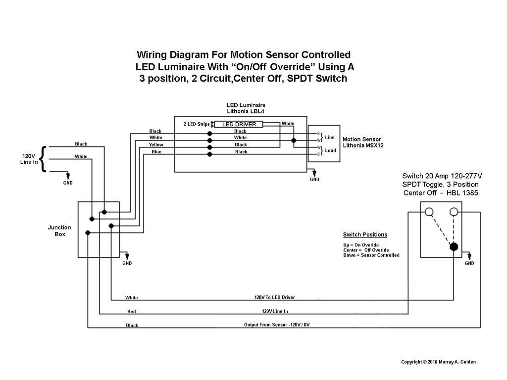 How To Wire A Double Light Switch Two Lights Pole Leviton