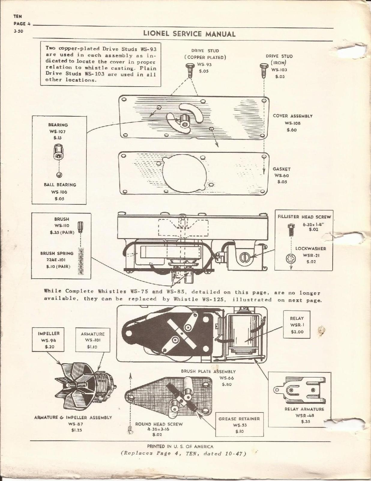 Lionel Tender Wiring Diagram