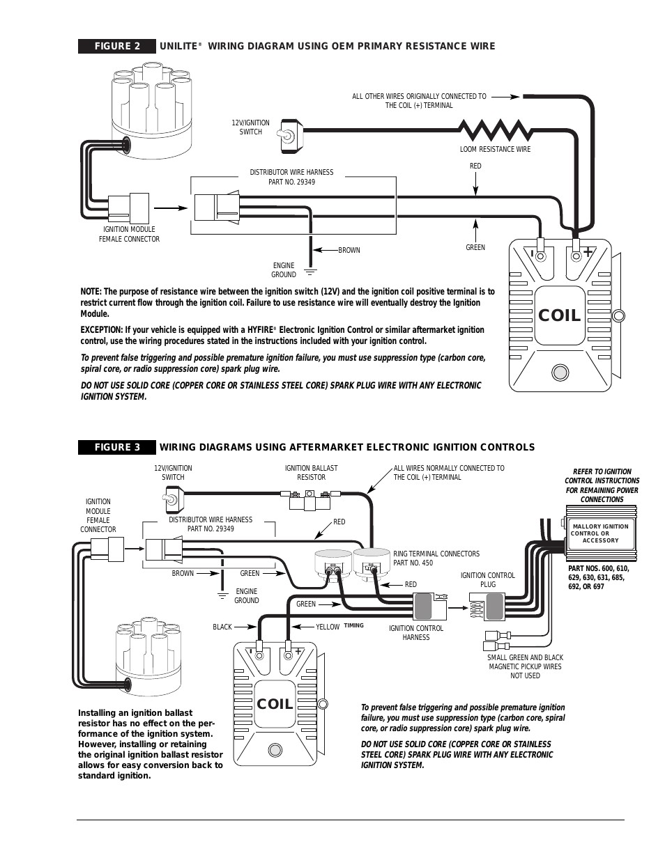 Coil Mallory Ignition UNILITE DISTRIBUTOR User Manual Best Wiring Diagram