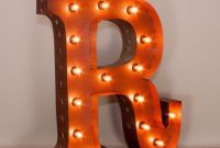 "Marquee Letter W Unique 24"" Letter R Lighted Vintage Marquee Letters with Screw On sockets"