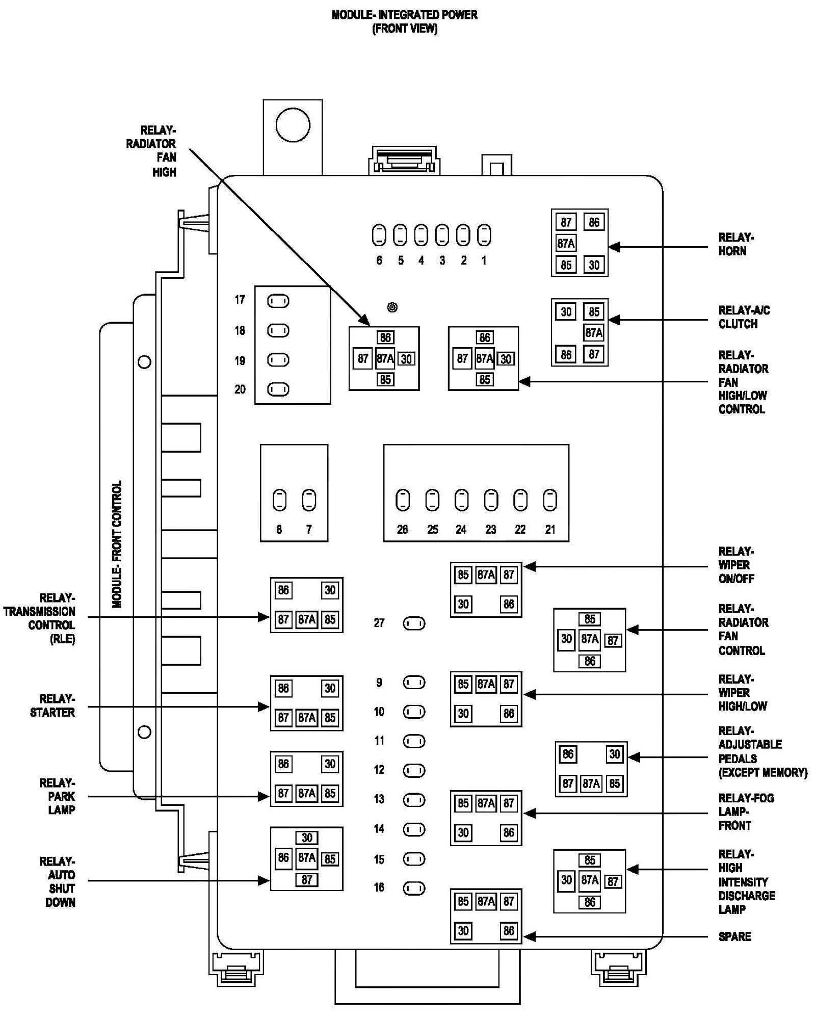 2007 Chrysler Sebring Fuse Box Diagram