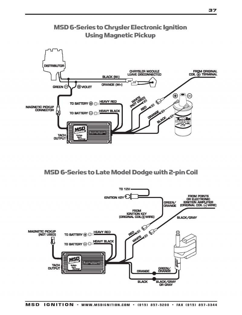 Premium Msd 6Al Wiring Diagram Chrysler Mopar Ignition Extraordinary 6al