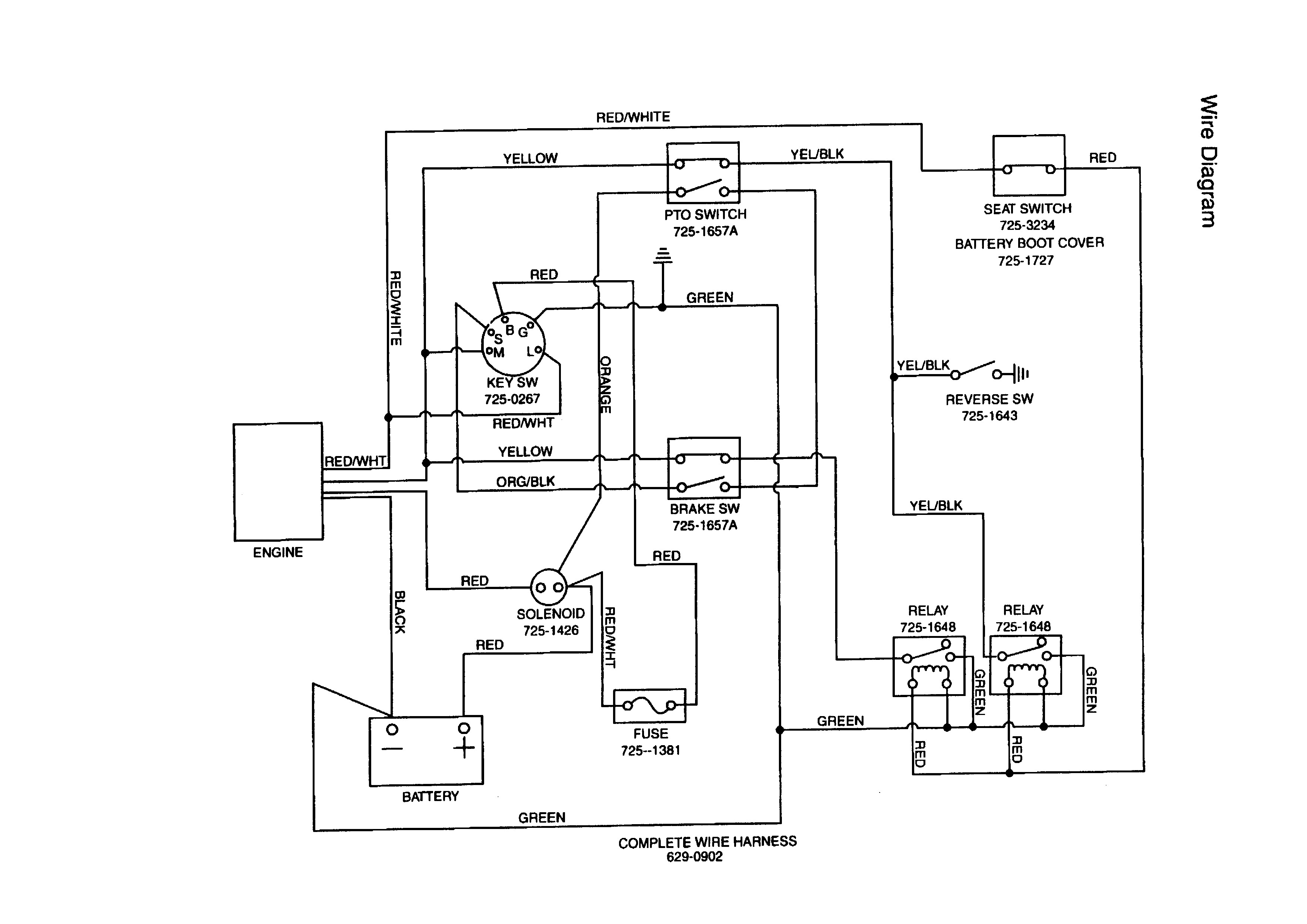 Mtd Tractor Wiring Diagram With For Huskee Lawn