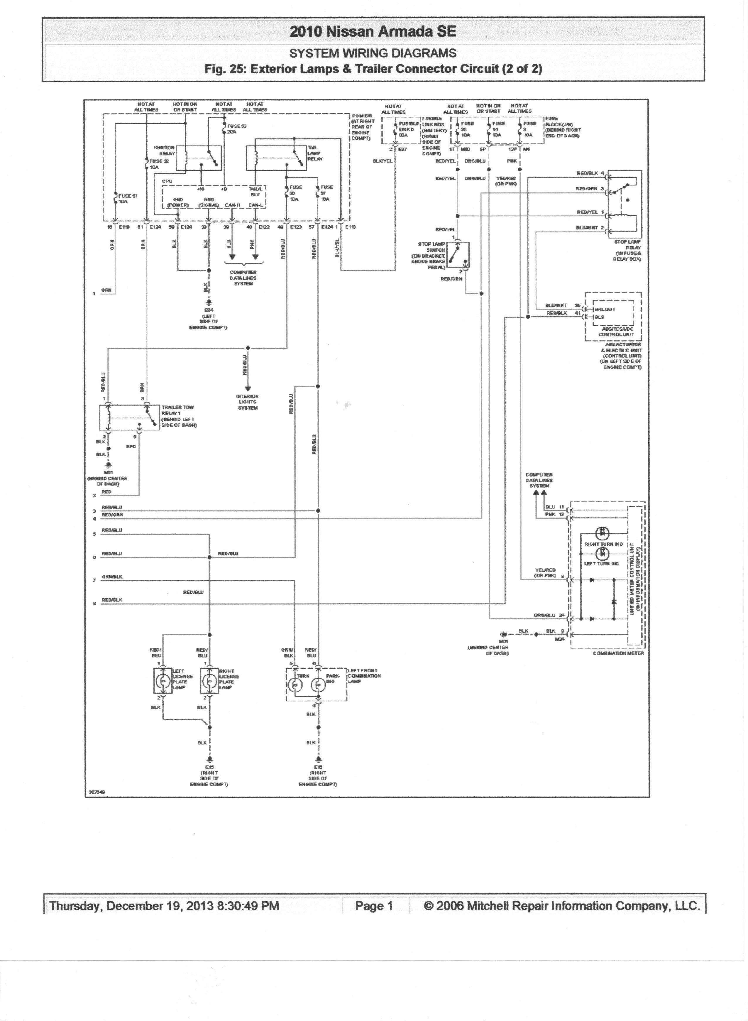 Wiring Diagram for Titan Trailer Best Trailer Wiring Diagram Nissan Titan Tarjetasysobres