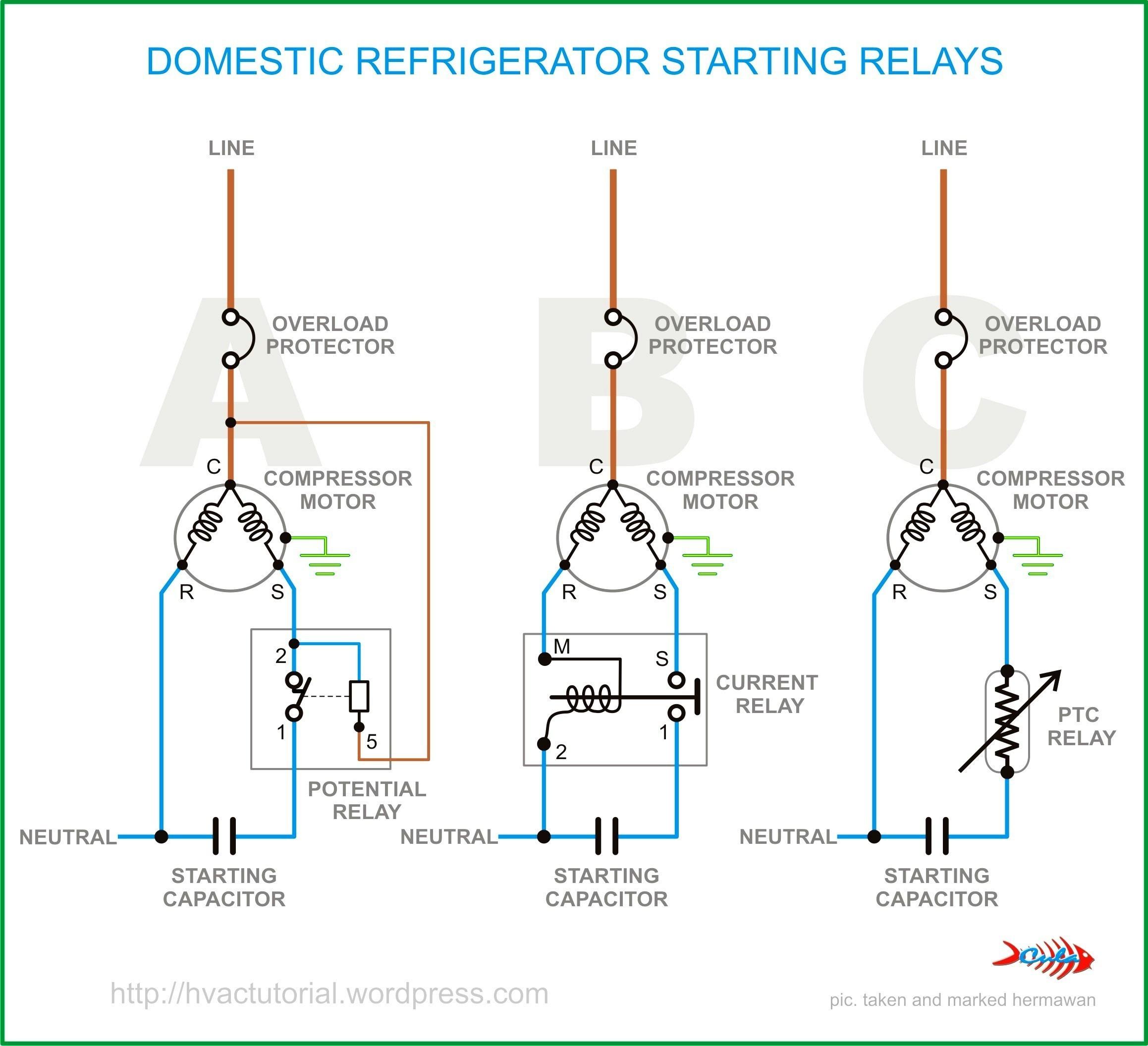 Beautiful Ptc Relay Wiring Diagram Elaboration Best for Fridge Pressor Wiring  Diagram