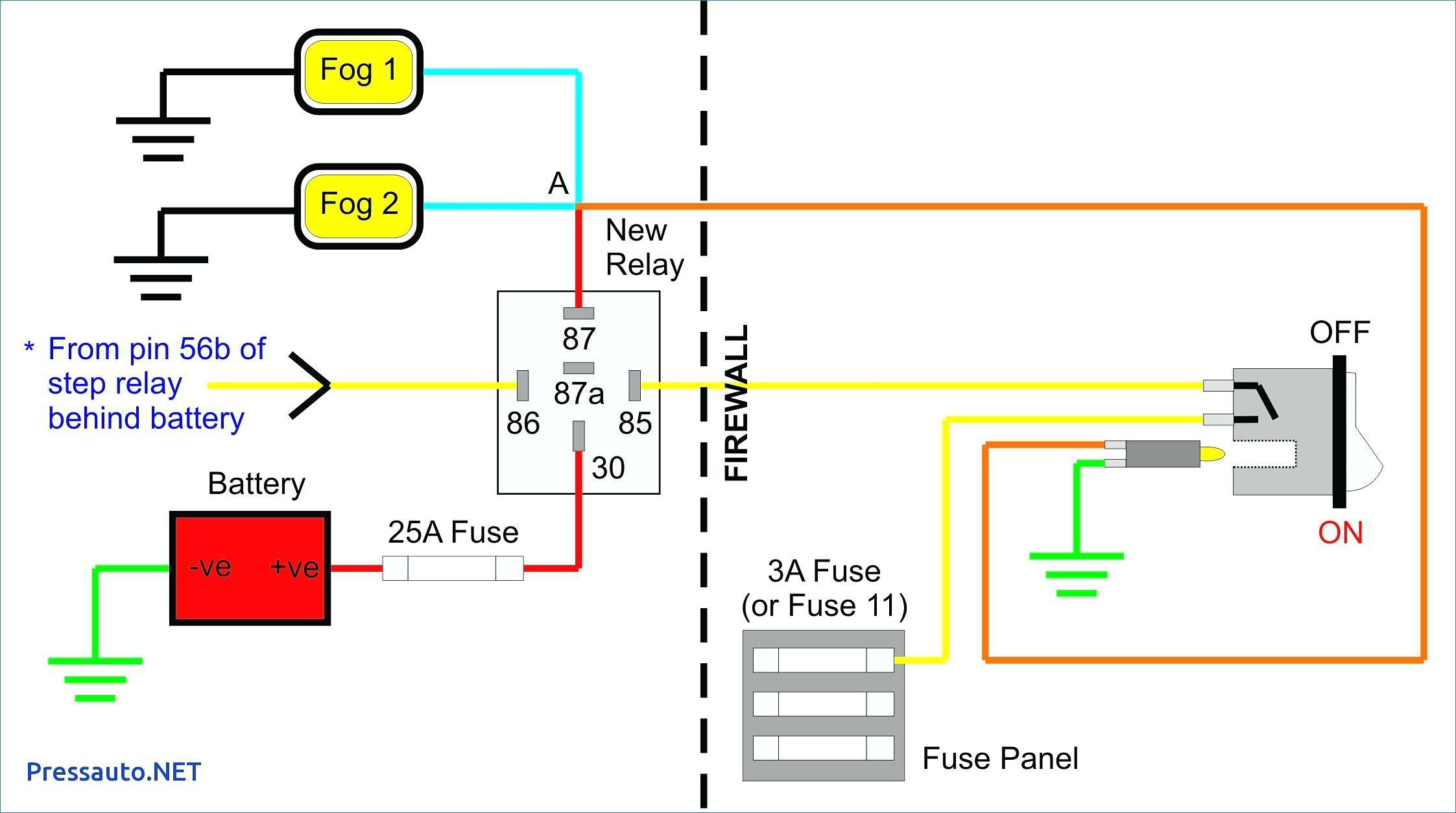 Fog Light Relay Diagram Fresh Wiring Diagram for A Relay for Fog Lights Valid Fog Light