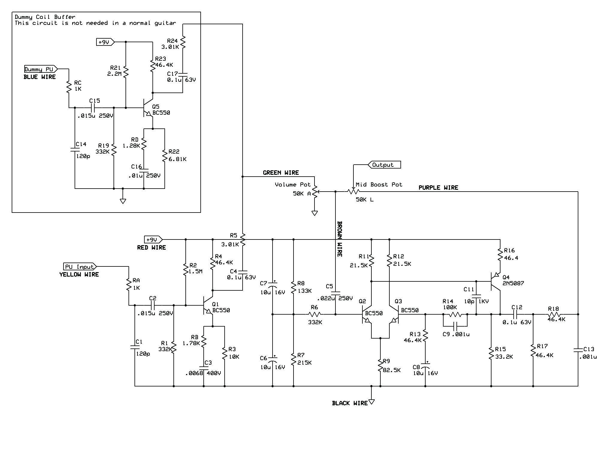 Guitar Kit Wiring Diagram Save Pit Bull Guitars Rca 4 Electric Bass Guitar Kit at Rickenbacker