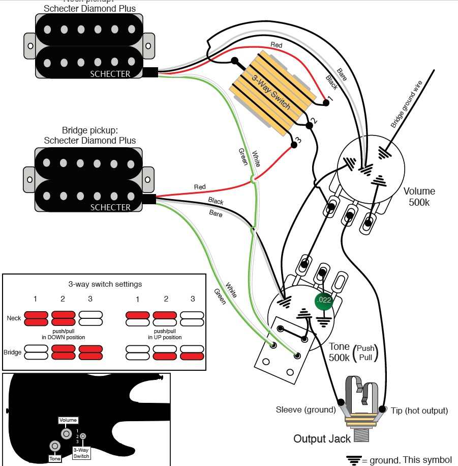 Schecter Diamond Series Wiring Diagram Inspirational