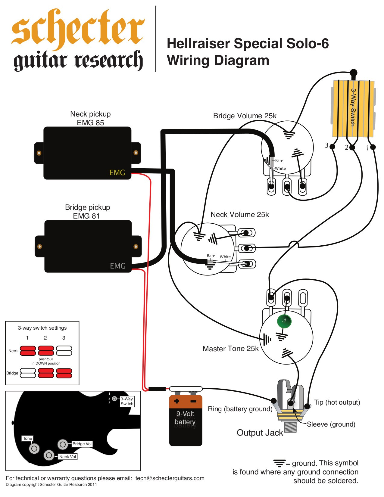 Schecter Diamond Series Wiring Diagram Inspirational Mosrite Guitar Fancy Emg Hz Ornament Electrical Ideas Of