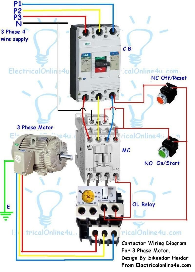 3 Phase Wiring Diagram Best Contactor Wiring Guide for 3 Phase 3th Control  Relays Siemens