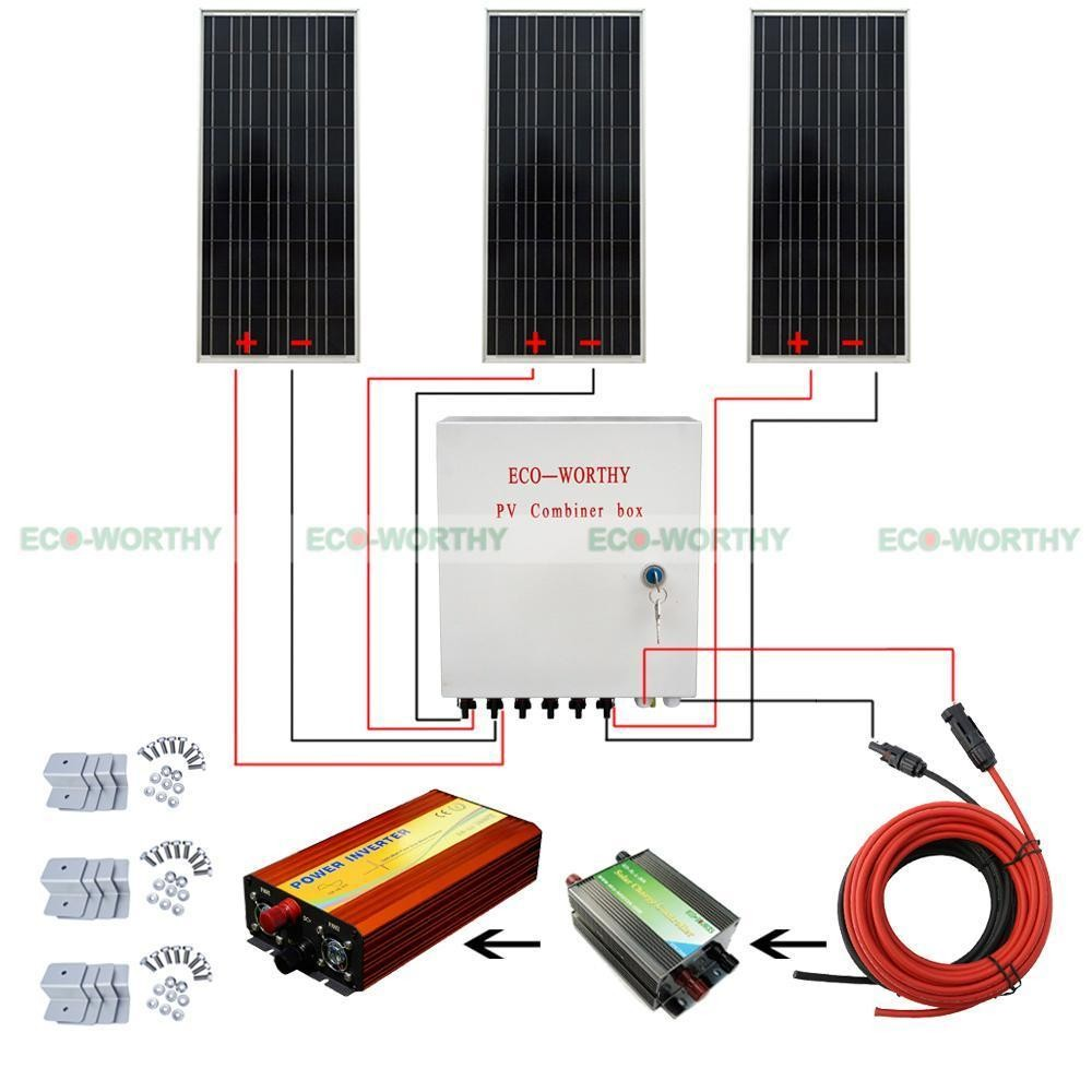 Solar Biner Box Wiring Diagram Libraries Panel Grid Combiner Library100w 12v F System Kit 6 String