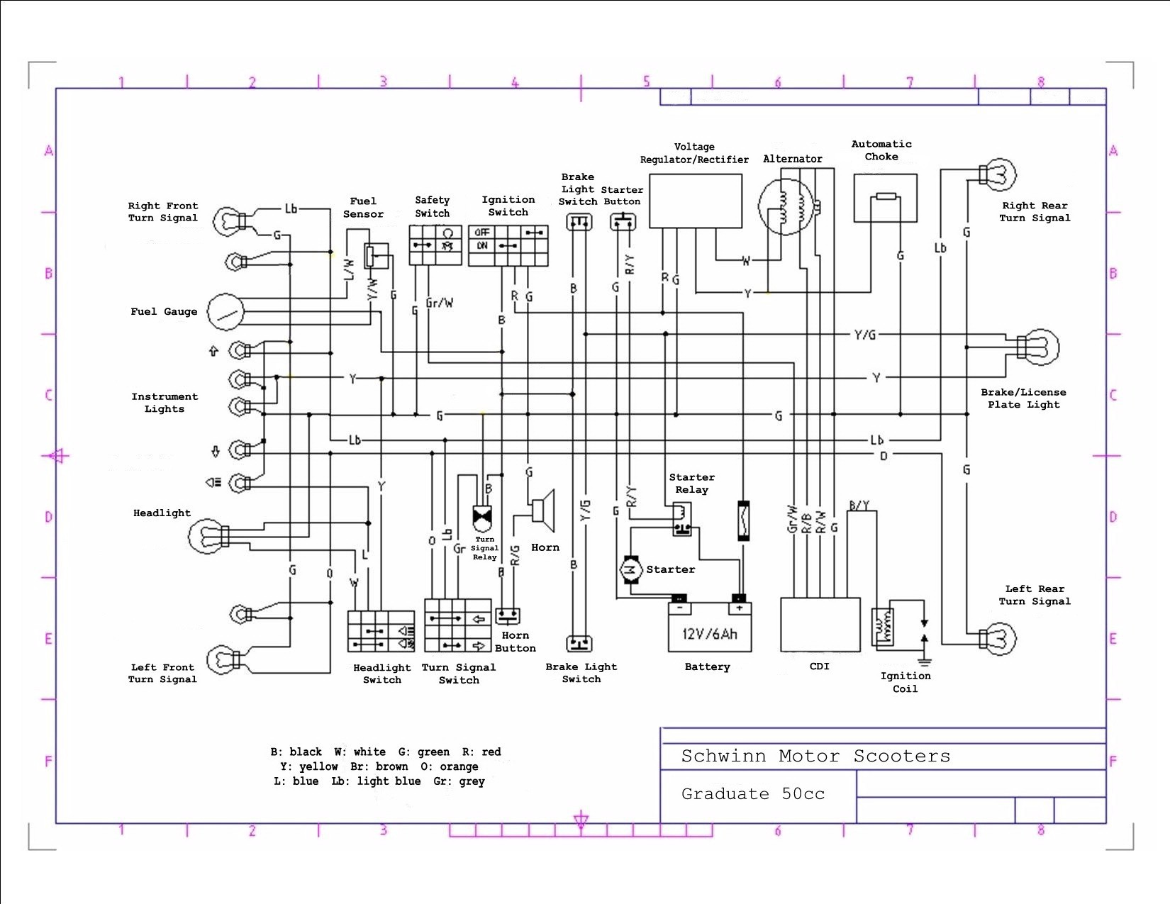 50cc Scooter Wiring Diagram Also Chinese Atv Engine Parts Diagram