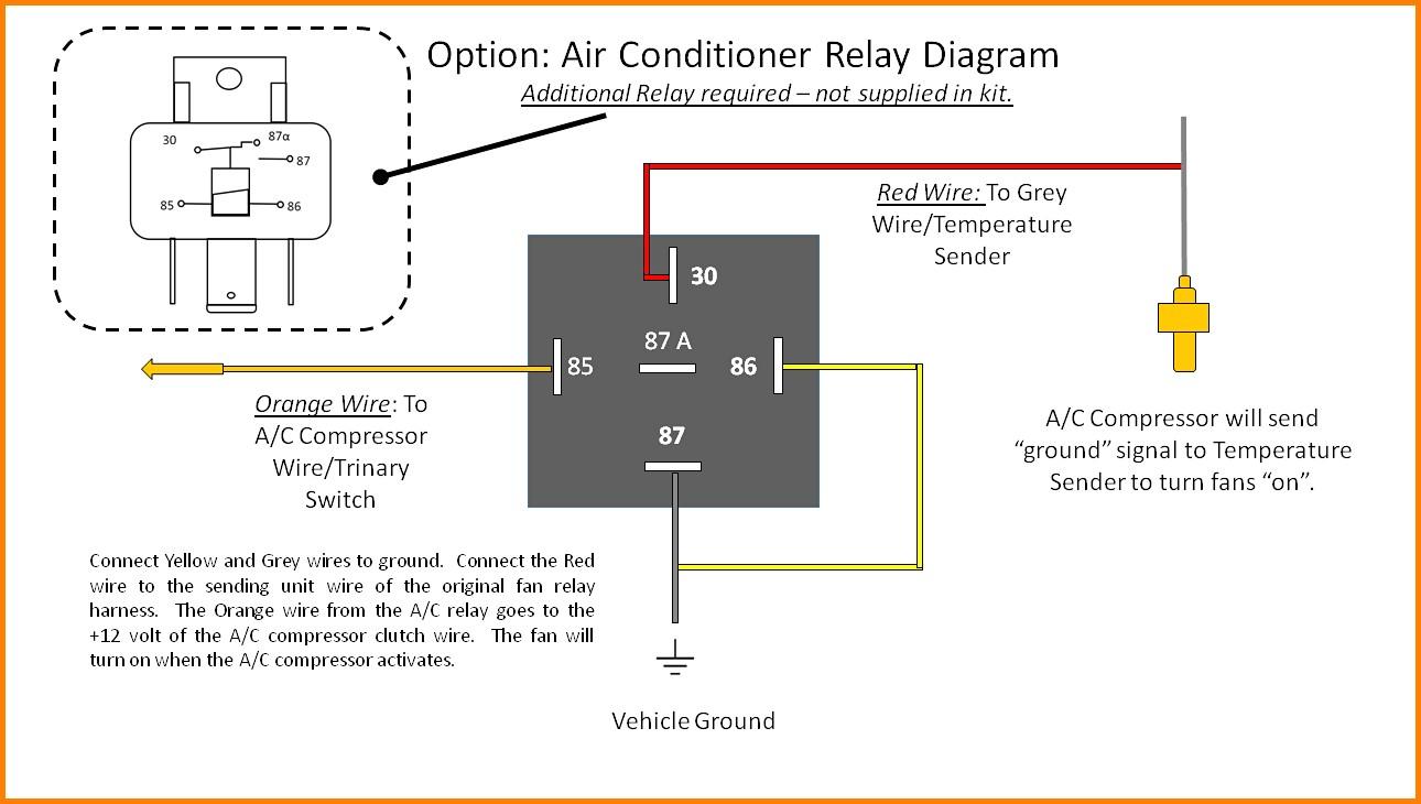 cooling fan relay wiring diagram Elegant Fan Relay Wiring Diagram wiring