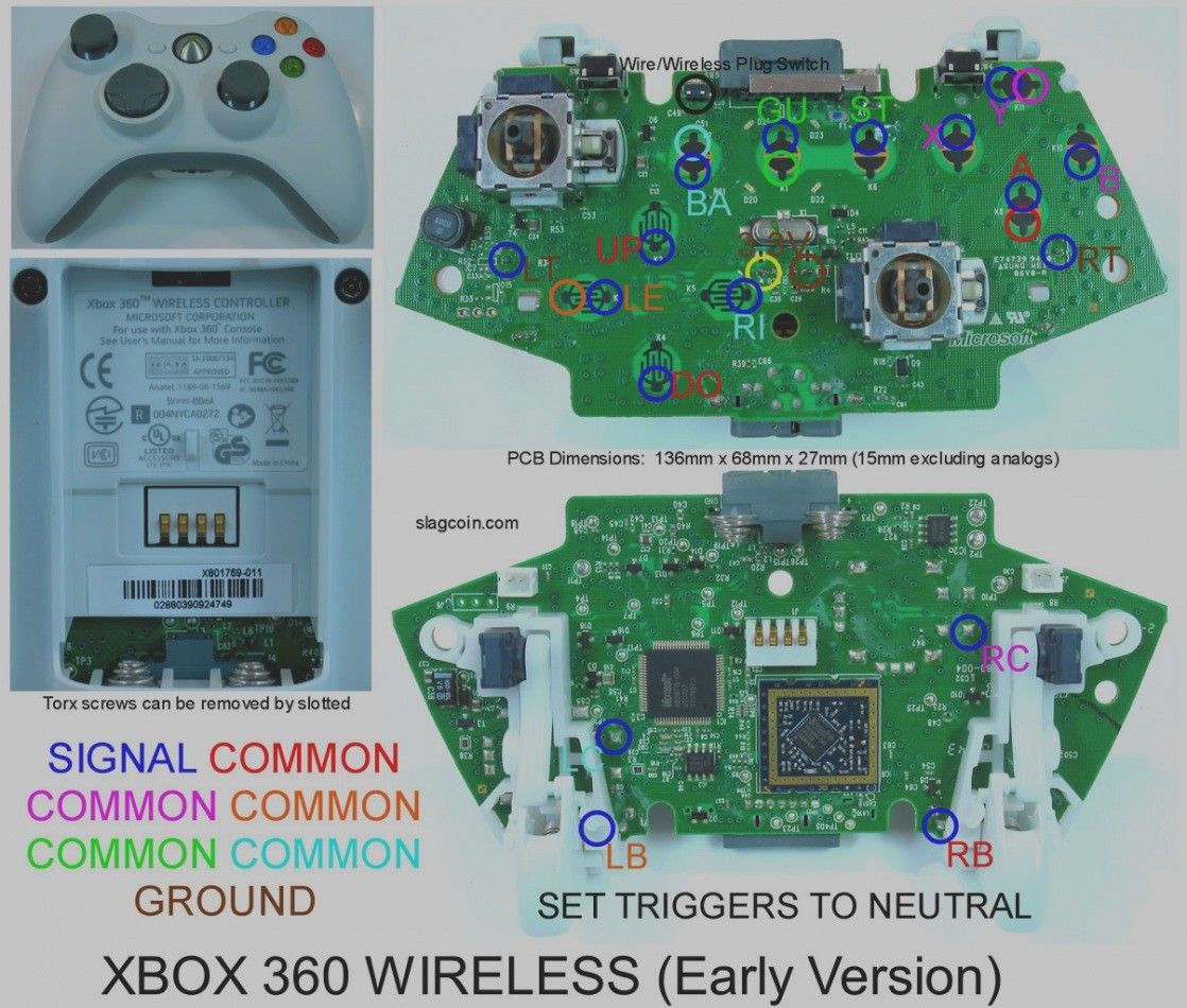 Wireless 360 Controller Parts Schematic Trusted Wiring Diagrams Xbox 360 To  TV Connection Diagram Wiring Diagram Xbox 360