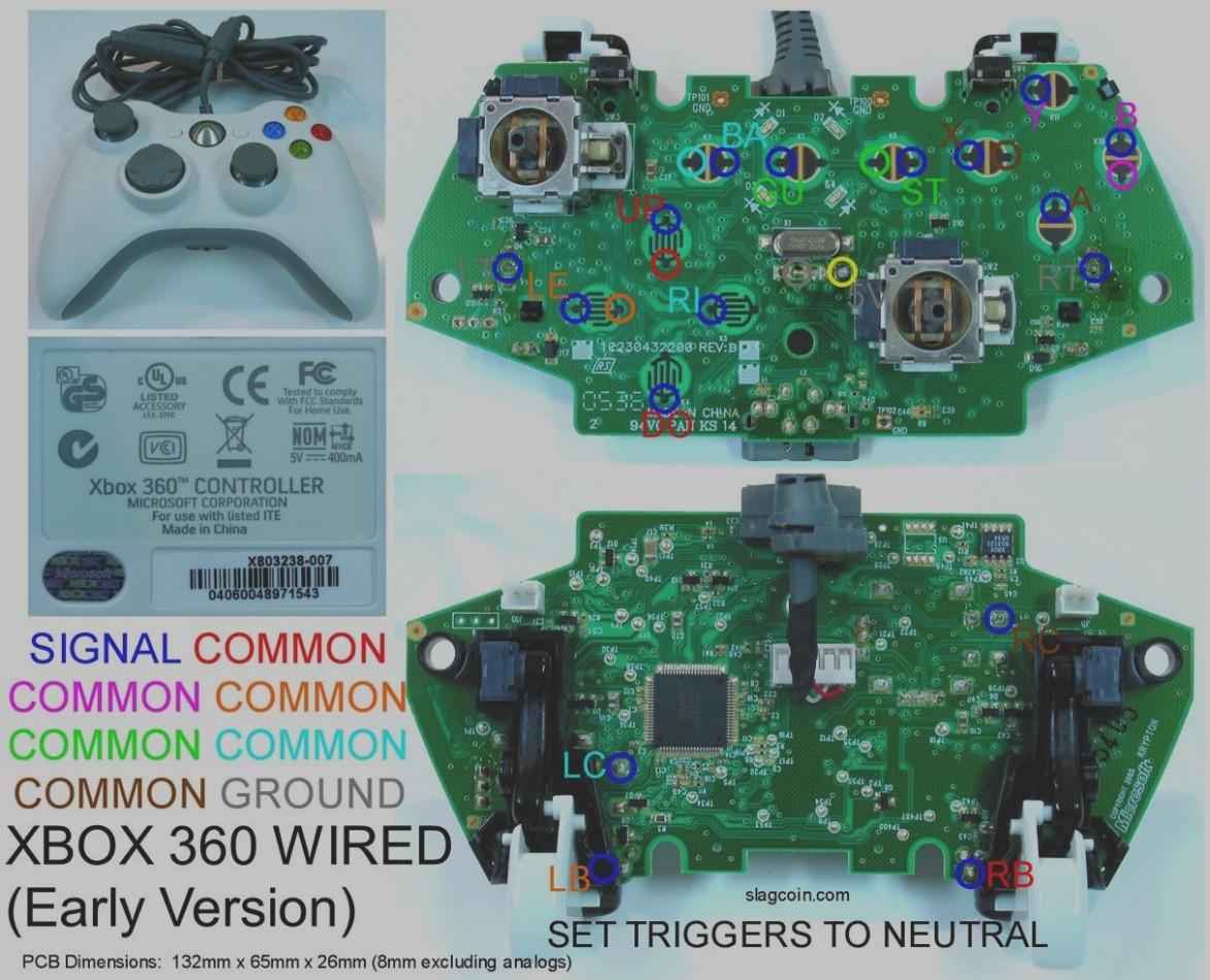 xbox 360 wired controller circuit board diagram wiring diagram rh friendsoffido co New Xbox 360 Controller xbox 360 wired controller circuit board diagram