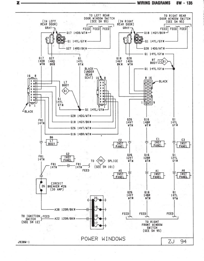96 jeep grand cherokee alternator wiring diagram