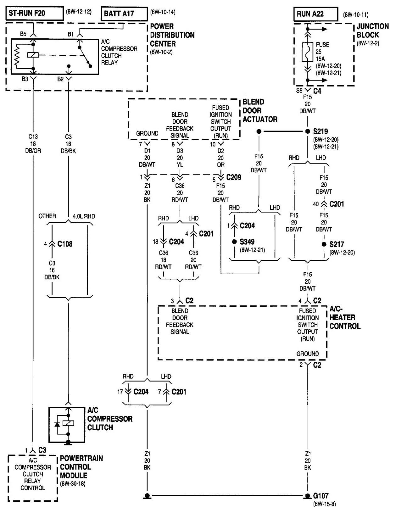 2000 jeep wrangler wiring diagram