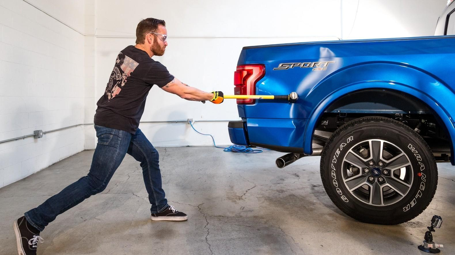 What s Crazier Than Smashing An Aluminum Ford F 150 With A Sledgehammer The Repair Bill