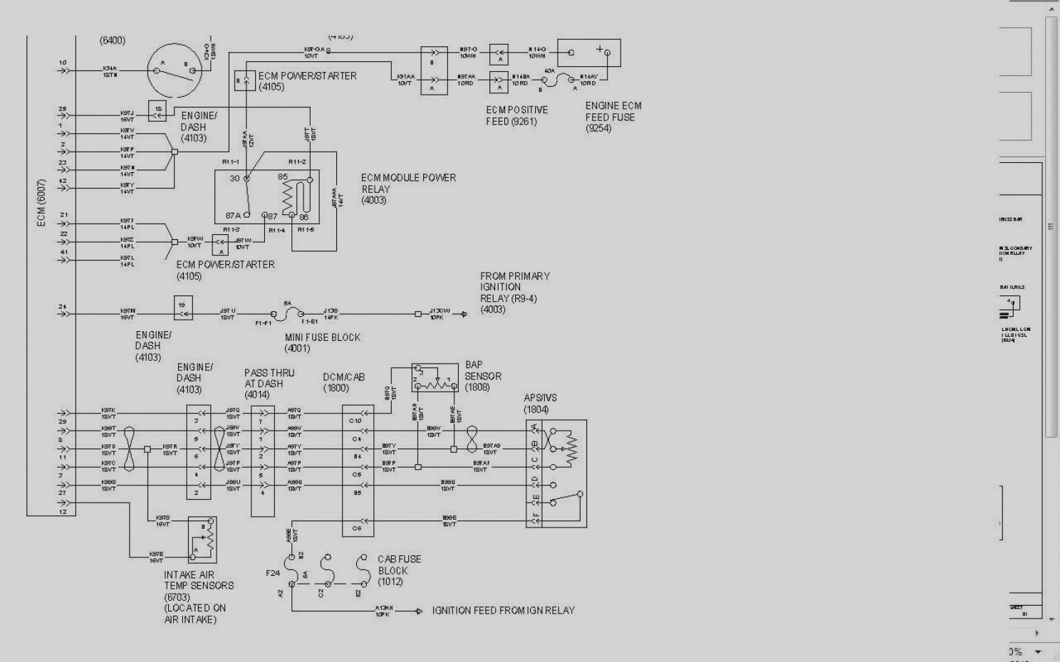 34 International 9400i Fuse Panel Diagram