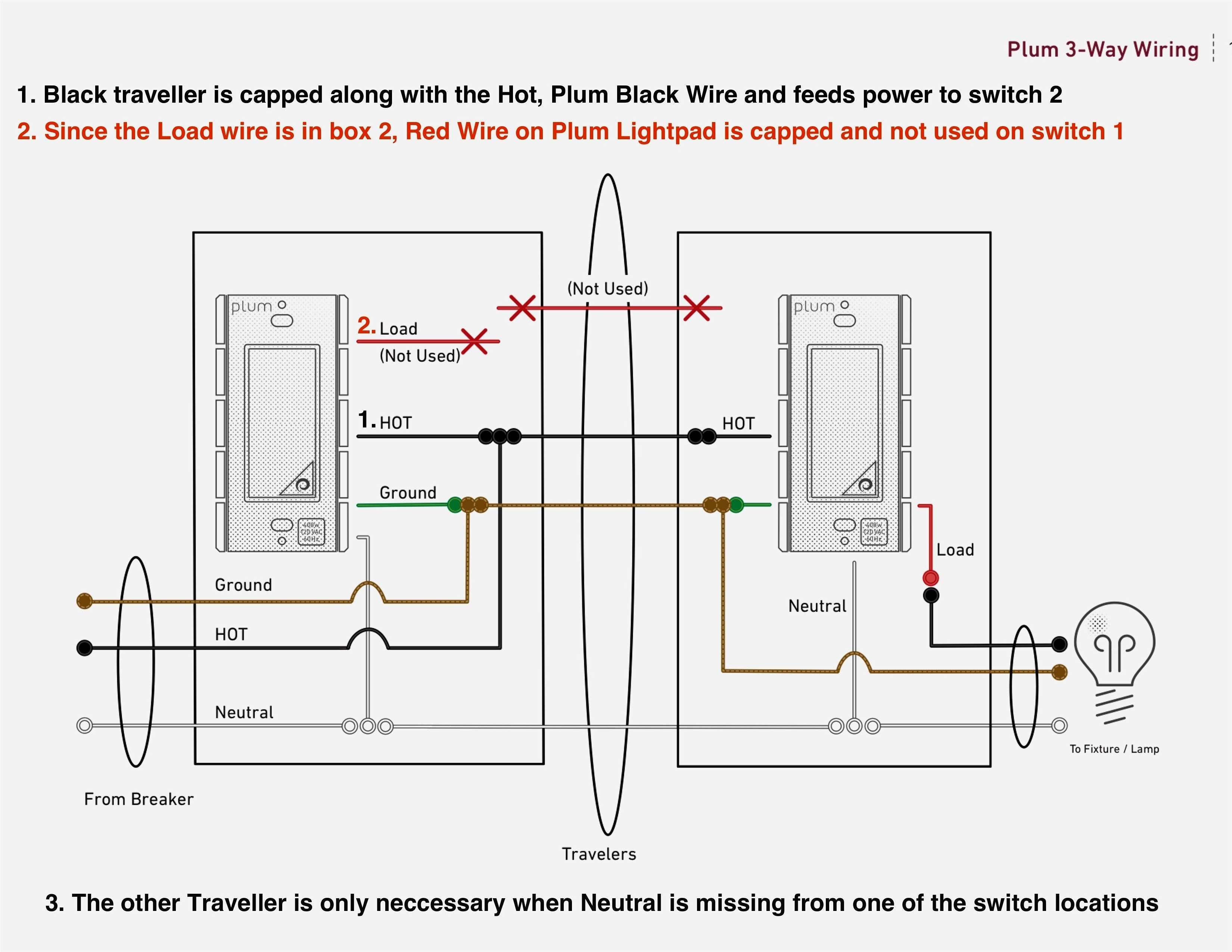 Wiring Diagram for Light with Two Switches Refrence 2 Way Light Switch 3 Dimmer Wiring Diagram