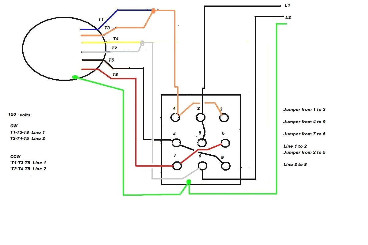 6 Lead Single Phase Motor Wiring Diagram Single Phase Motor Wiring Diagram with Capacitor Start